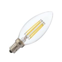 Bec Led Lumanare Filament E14 4W Alb Cald
