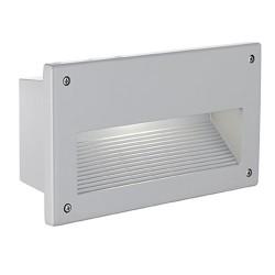 Lampa Incastrata Exterior Eglo Zimba 88575, E14 1X40W Ip44, Argintiu, Alb