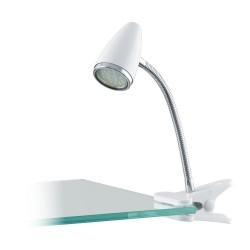 Lampa Cu Clema Eglo Riccio 1 94329, Gu10 1X3W, Alb, Crom