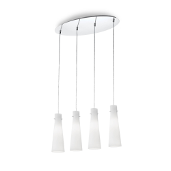 Suspensie KUKY SP4 BIANCO 053455 Ideal Lux