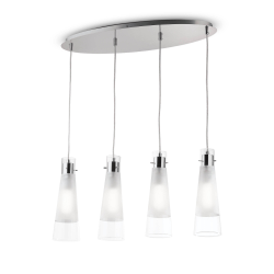 Suspensie KUKY SP4 TRASPARENTE 023038 Ideal Lux