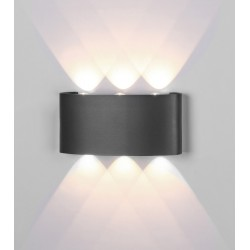 Aplica Exterior Arcs LED, Gri, 6540, Mantra Spania