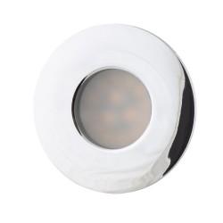Downlight Circular Incastrat Aqua Ip65 H0045 Max Light, Gu5,3 , Crom , Polonia