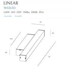 Aplica Baie Linear W0263 Max Light, Led , Alb , Polonia