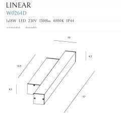 Aplica Baie Linear W0264 Max Light, Led , Negru , Polonia