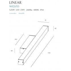 Aplica Baie Linear W0265 Max Light, Led , Alb , Polonia