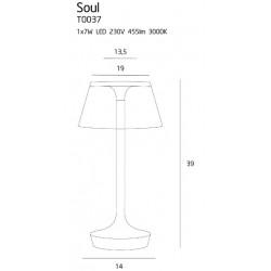 Veioza Soul T0037 Max Light, Led , Crom, Polonia