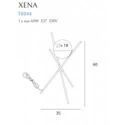 Veioza Xena T0044 Max Light, E27 , Auriu , Polonia