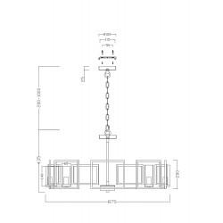 Candelabru  Bowi Maytoni E14, Auriu, H009PL-08G, Germania
