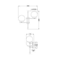 Aplica Nostalgia Maytoni E14,  Auriu , MOD050WL-02G, Germania