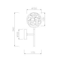 Aplica Ligero Maytoni E27, Auriu, MOD061WL-01BS, Germania