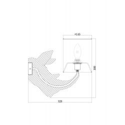 Aplica Nashorn Maytoni E14, Alb, MOD470WL-01W, Germania