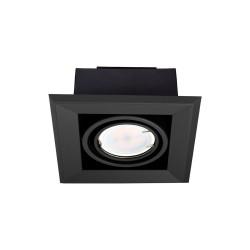 Downlight Patrat BLOCCO Milagro Modern, LED, Negru, ML472, Polonia
