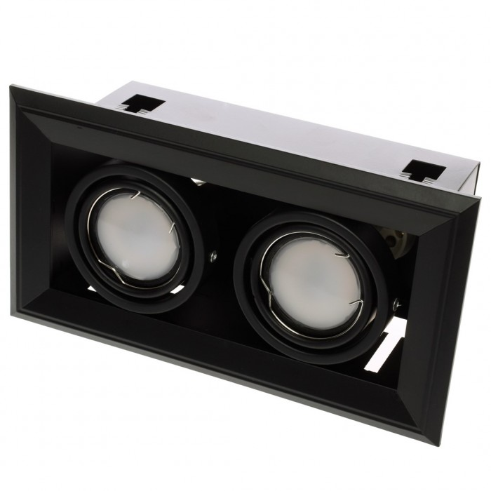 Downlight Patrat BLOCCO Milagro Modern, LED, Negru, ML475, Polonia