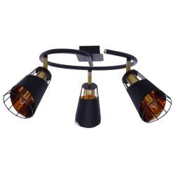 Lustra Plafon RICK Milagro Modern, E14, Negru, ML5568, Polonia