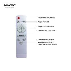 Aplica Baie BONO Milagro Modern, LED, Alb, ML6398, Polonia