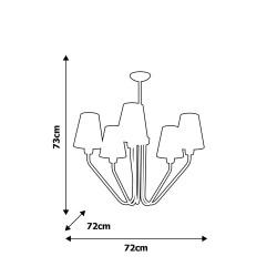 Candelabru VICTORIA BLACK Milagro Modern, E27, Auriu, MLP4913, Polonia