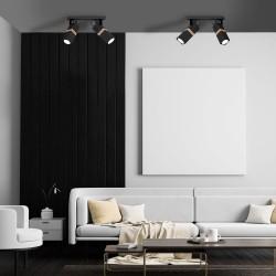 Lustra Plafon VIDAR BLACK Milagro Modern, GU10, Negru, MLP5401, Polonia