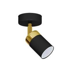 Aplica JOKER BLACK/GOLD Milagro Modern, GU10, Auriu/Negru, MLP6123, Polonia