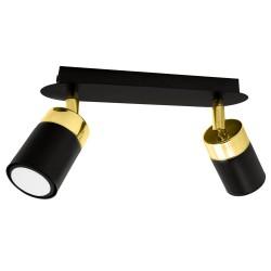 Lustra Plafon JOKER BLACK/GOLD Milagro Modern, GU10, Auriu/Negru, MLP6124, Polonia