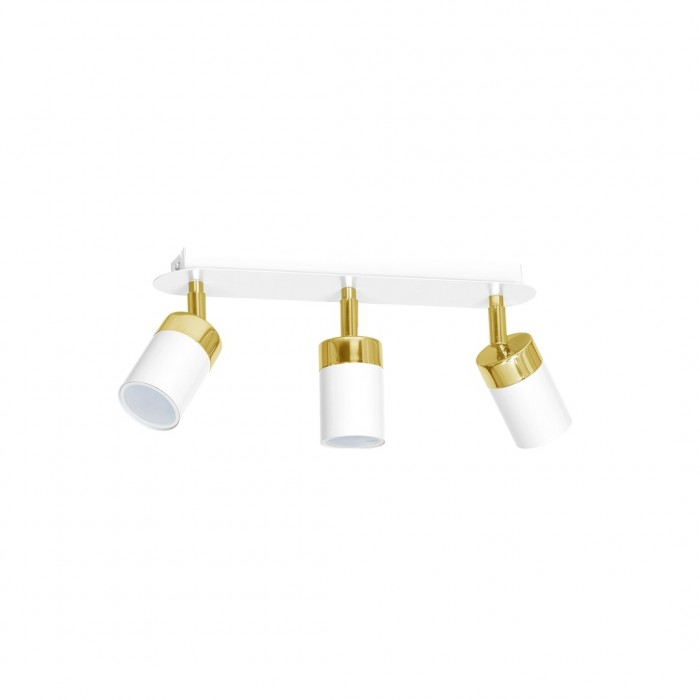 Lustra Plafon JOKER WHITE/GOLD Milagro Modern, GU10, Alb/Auriu, MLP6130, Polonia