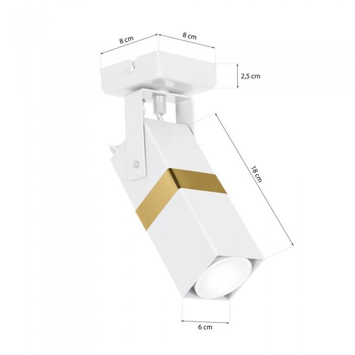 Lustra Plafon VIDAR Milagro Modern, GU10, Alb/Auriu, MLP6273, Polonia