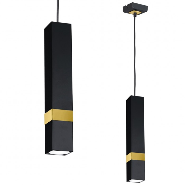 Pendul VIDAR Milagro Modern, GU10, Auriu/Negru, MLP6279, Polonia