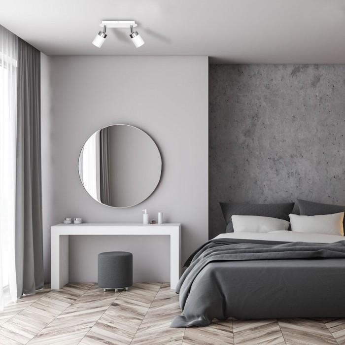 Lustra Plafon JOKER WHITE Milagro Modern, GU10, Alb, MLP899, Polonia