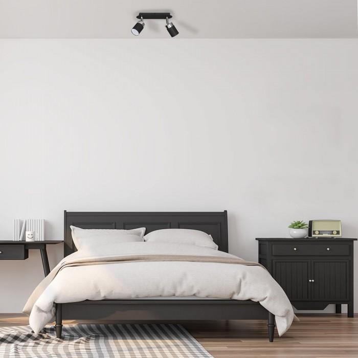 Lustra Plafon JOKER BLACK Milagro Modern, GU10, Negru, MLP911, Polonia