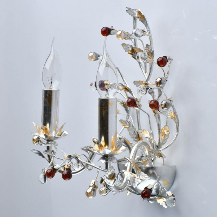 Aplica Viola MW Lighting E14, Argint, 298023102, Germania