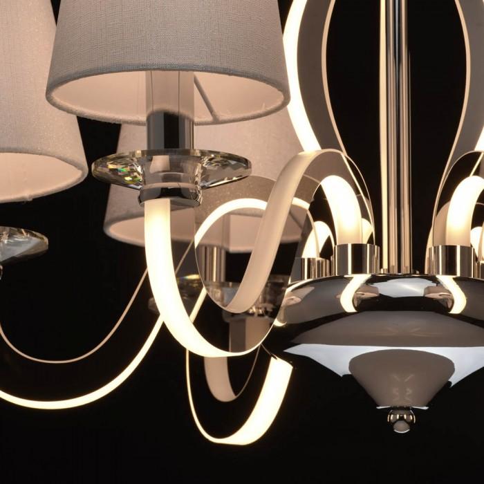 Candelabru  MW Lighting E14 + Led, Crom, 659010806, Germania