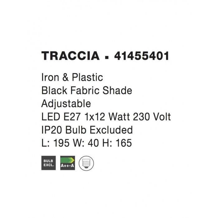 Lampadar TRACCIA Nova Luce Modern, E27, 41455401, Grecia
