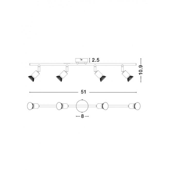 Lustra Spot BASE Nova Luce Modern, GU10, 661004, Grecia