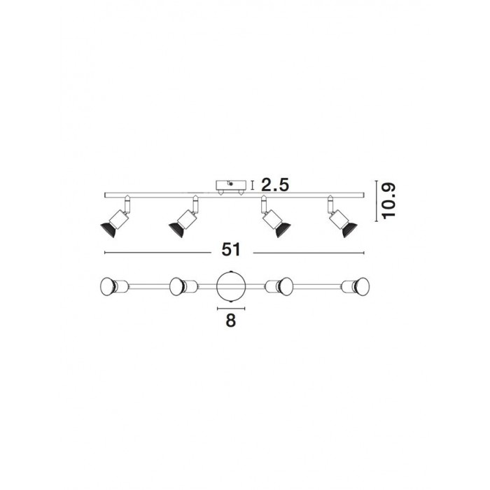 Lustra Spot BASE Nova Luce Modern, GU10, 662004, Grecia