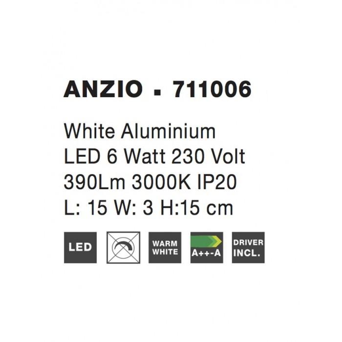 Aplica ANZIO Nova Luce Modern, Led, 711006, Grecia