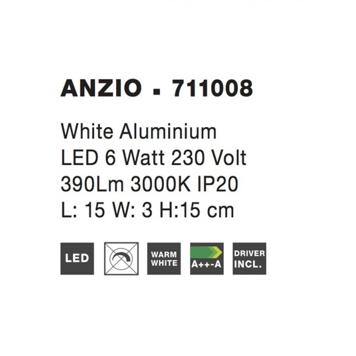 Aplica ANZIO Nova Luce Modern, Led, 711008, Grecia