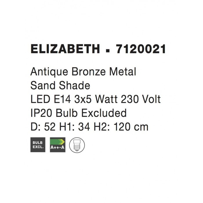Candelabru ELIZABETH Nova Luce Clasic, E14, 7120021, Grecia