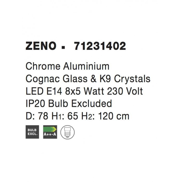 Candelabru ZENO Nova Luce Clasic, E14, 71231402, Grecia
