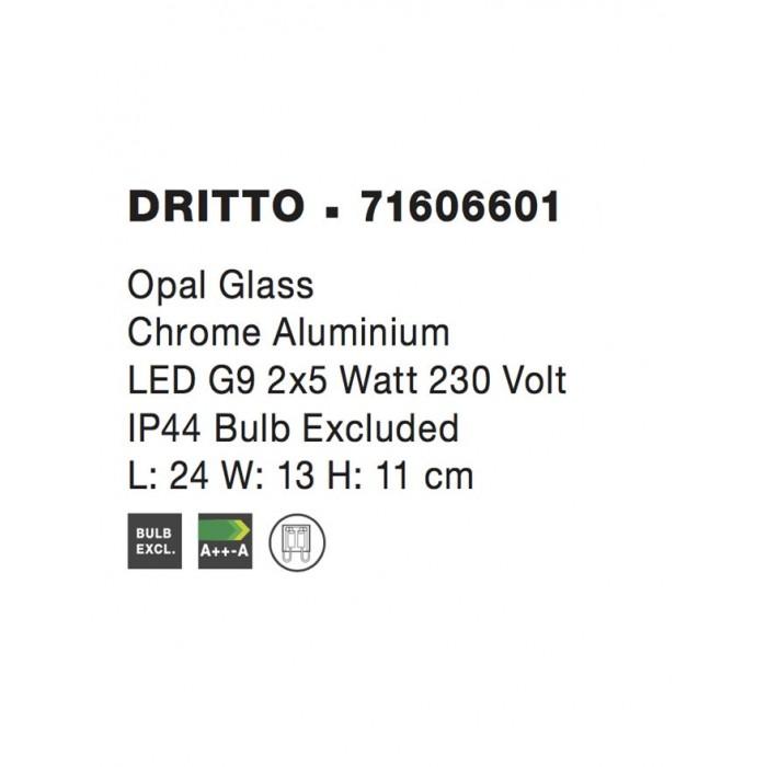 Aplica Baie DRITTO Nova Luce Modern, G9, 71606601, Grecia