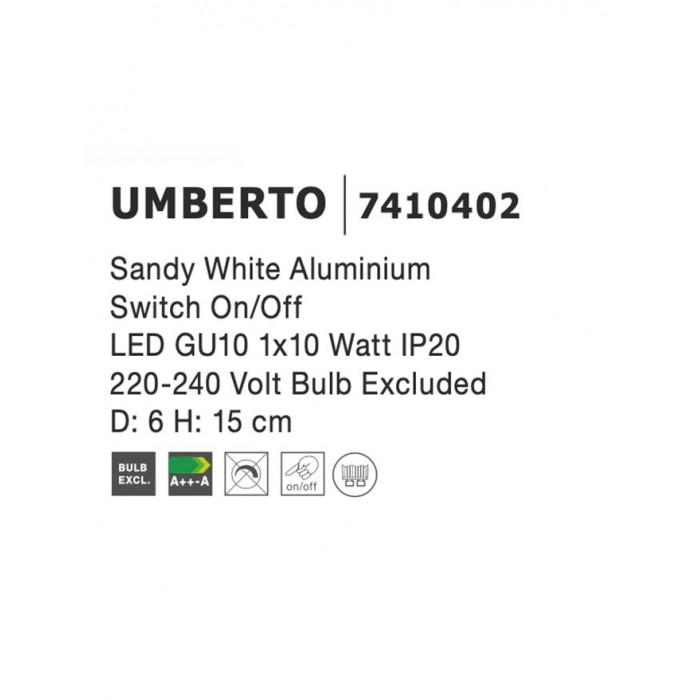 Downlight Reflector UMBERTO Nova Luce Modern, GU10, 7410402, Grecia