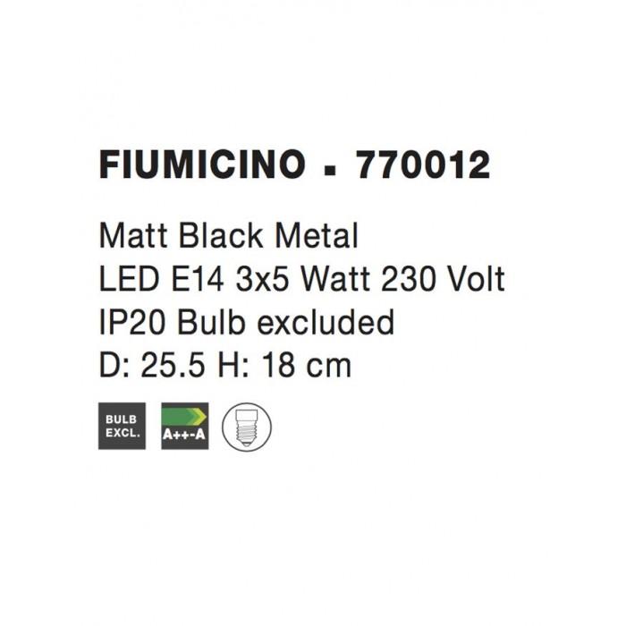 Lustra Spot FIUMICINO Nova Luce Modern, E14, 770012, Grecia