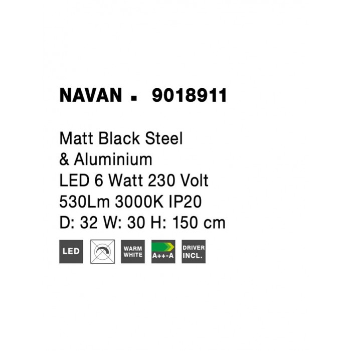 Lampadar NAVAN Nova Luce Modern, Led, 9018911, Grecia