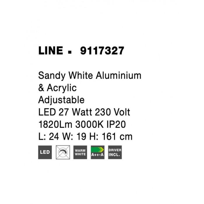 Lampadar LINE Nova Luce Modern, Led, 9117327, Grecia