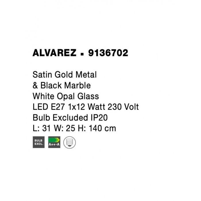 Lampadar ALVAREZ Nova Luce Modern, E27, 9136702, Grecia