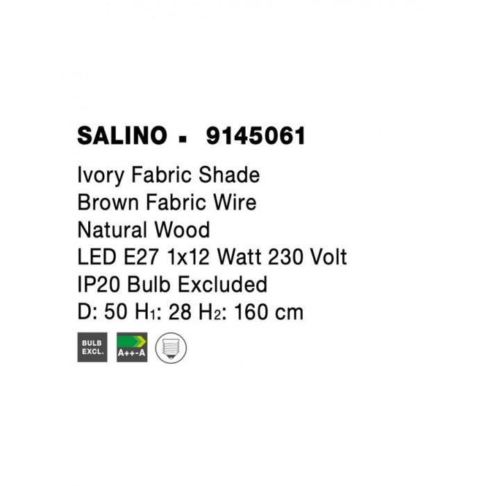 Lampadar SALINO Nova Luce Modern, E27, 9145061, Grecia