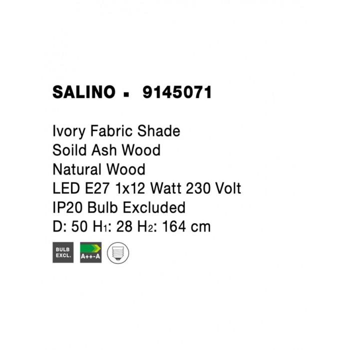 Lampadar SALINO Nova Luce Modern, E27, 9145071, Grecia