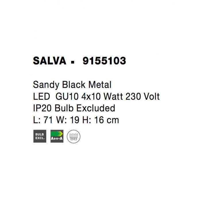 Lustra Spot SALVA Nova Luce Modern, GU10, 9155103, Grecia