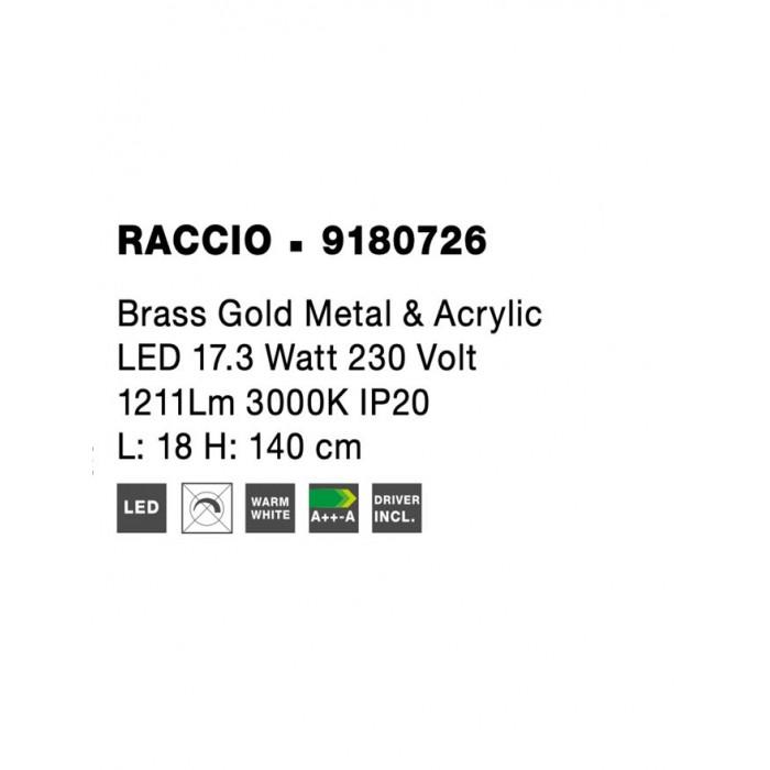 Lampadar RACCIO Nova Luce Modern, Led, 9180726, Grecia