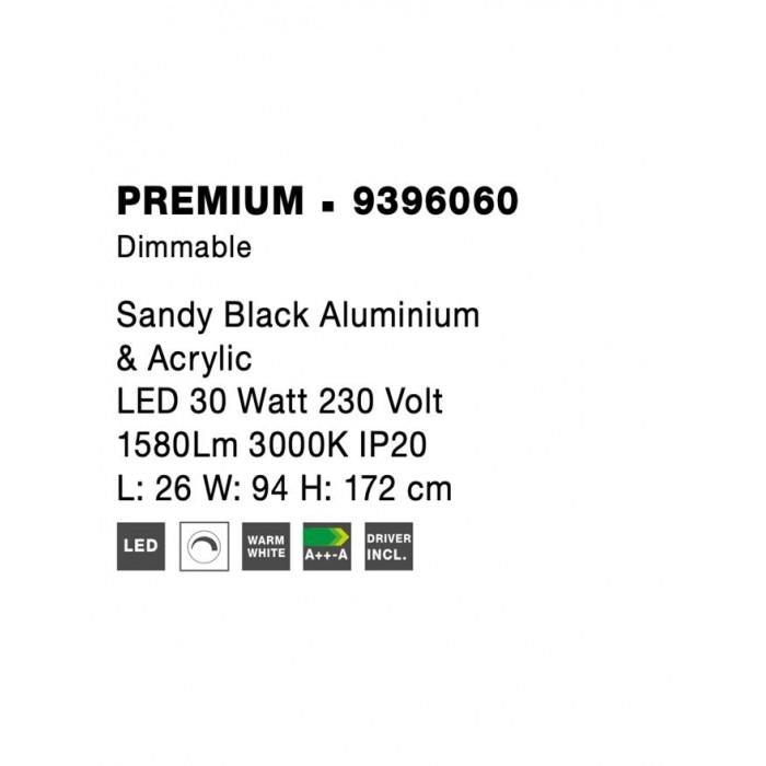 Lampadar Tehnic PREMIUM Nova Luce Modern, Led, 9396060, Grecia