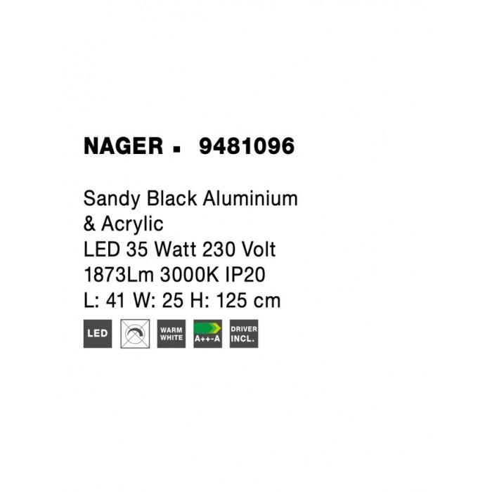 Lampadar NAGER Nova Luce Modern, Led, 9481096, Grecia